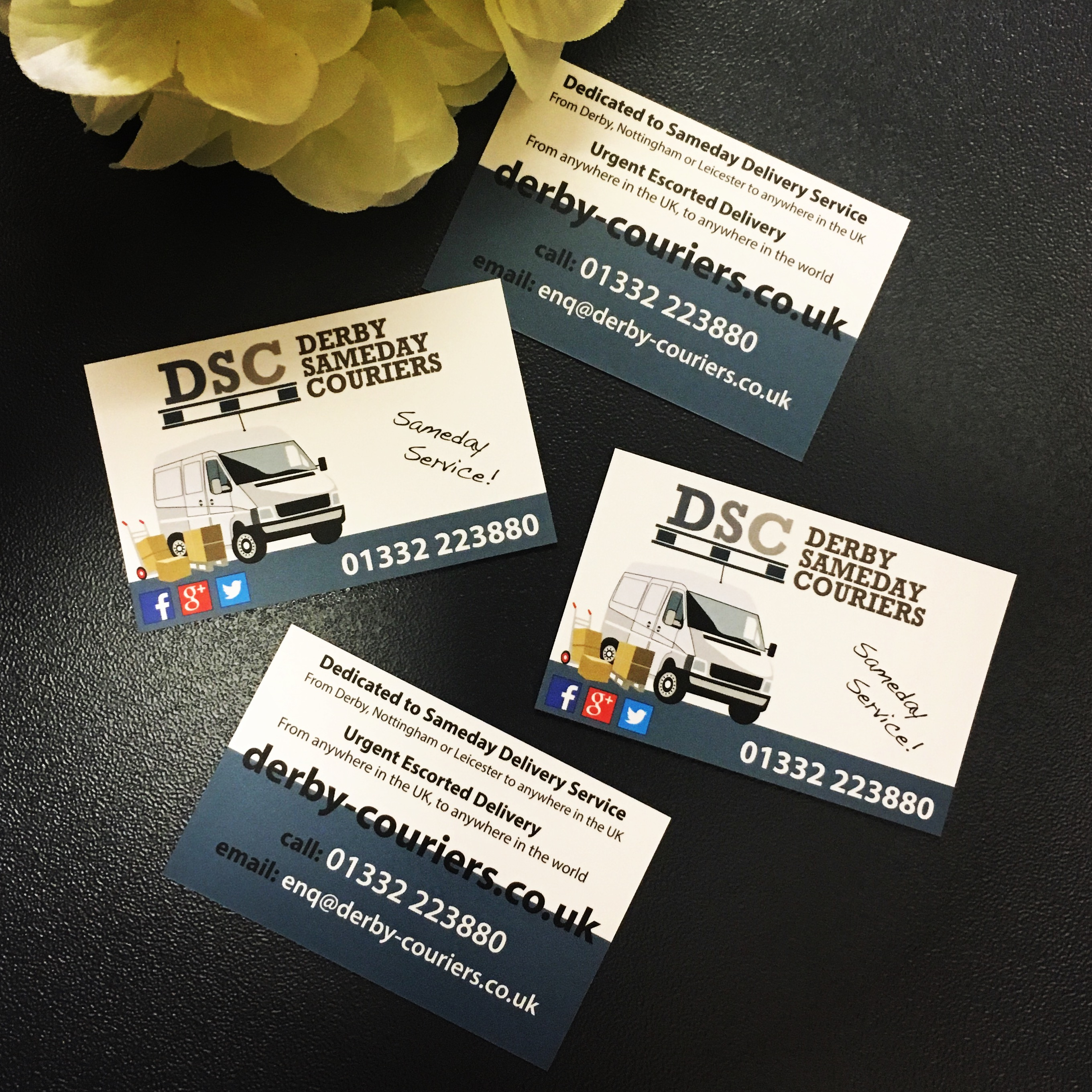 Business Cards - Derby SameDay Couriers | High Heel Creative