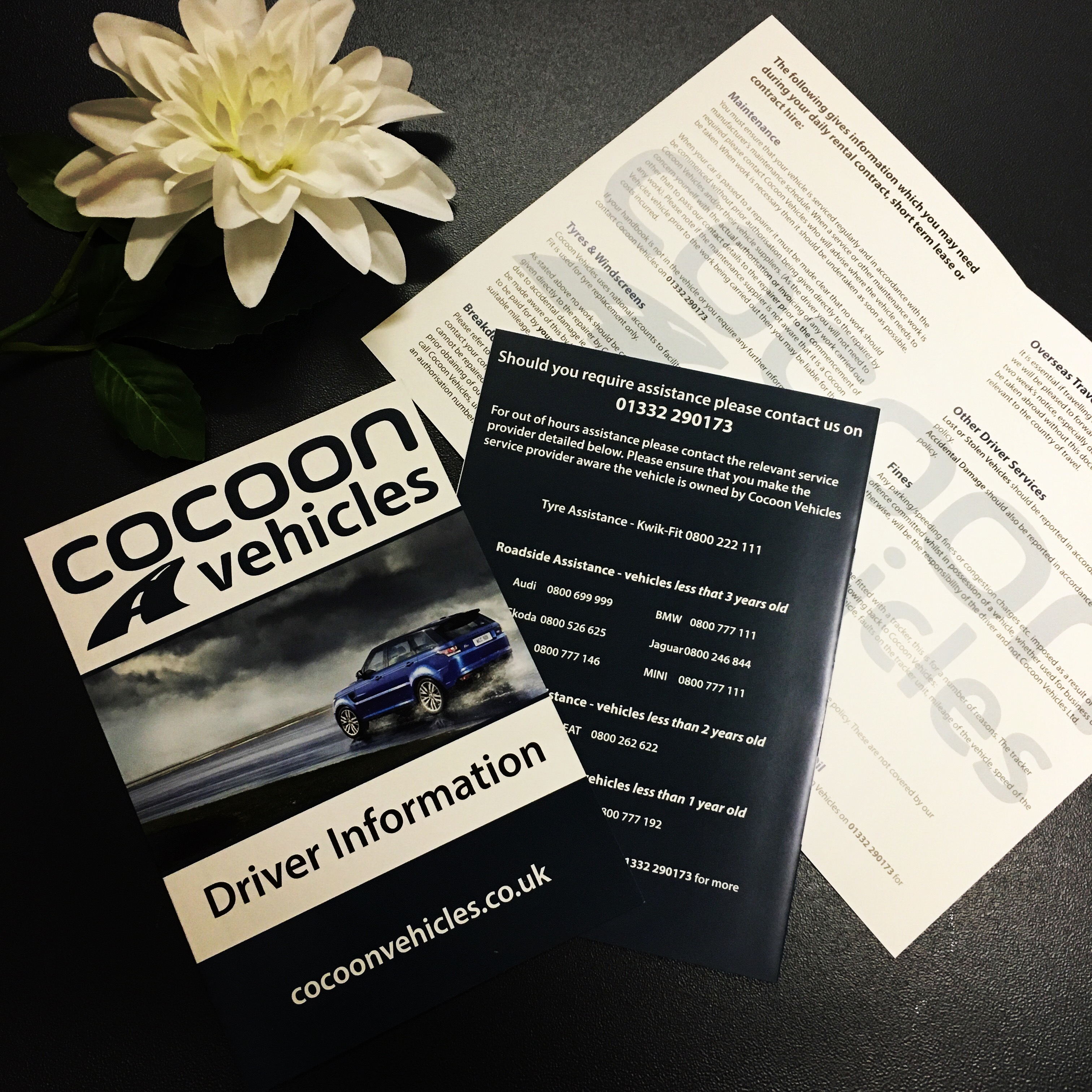 A4 Folded Leaflets - Cocoon Vehicles