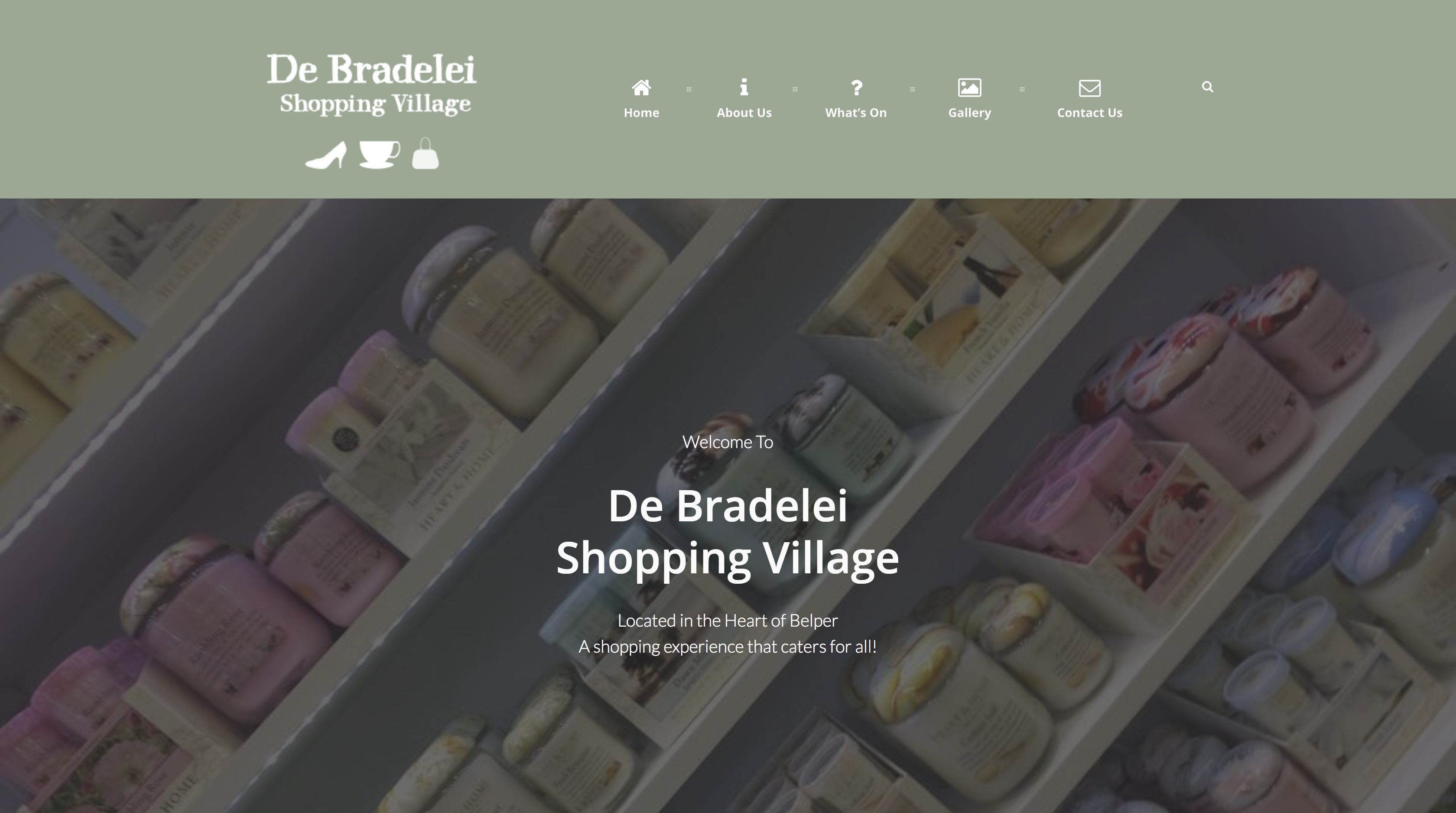 de bradelei outlets belper website design by High Heel Creative