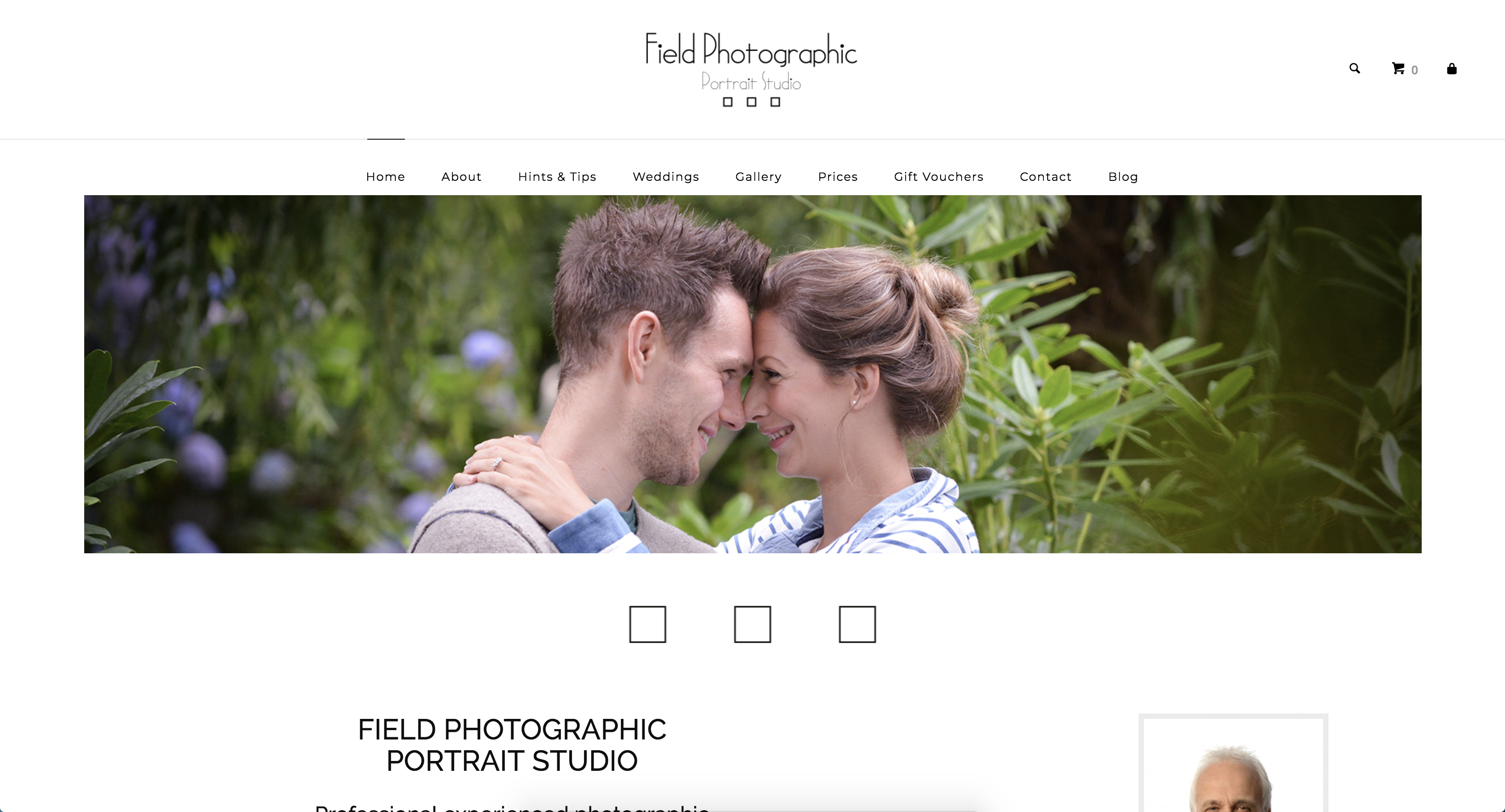 Field Photographic Portraits Website Homepage