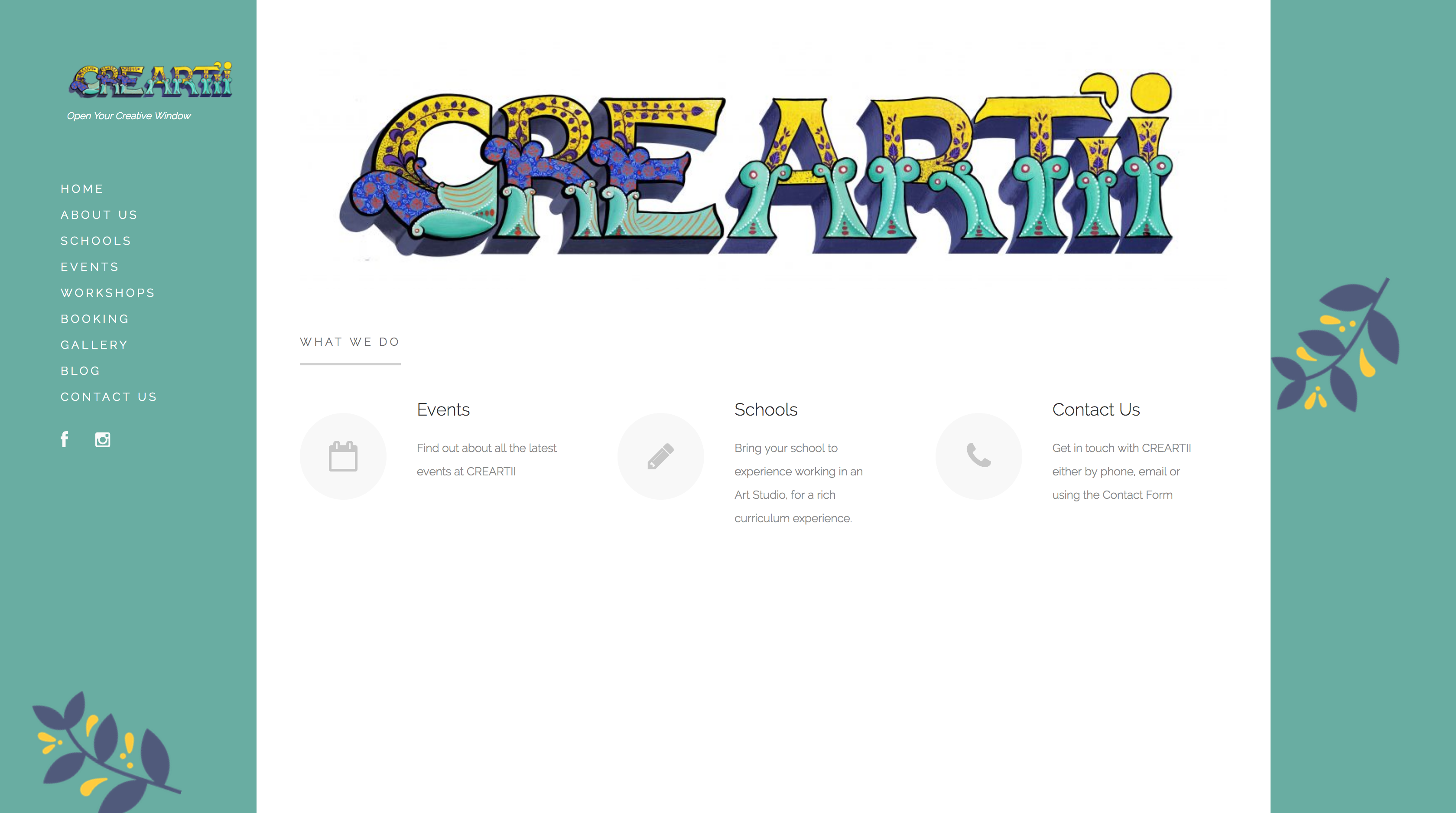 creartii homepage website design by High Heel Creative